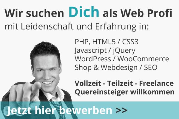 Wir suchen Webdesigner - Quereinsteiger